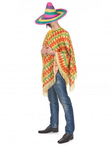 Poncho Mexicano malaguetas para adulto-1