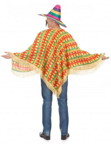 Poncho Mexicano malaguetas para adulto-2