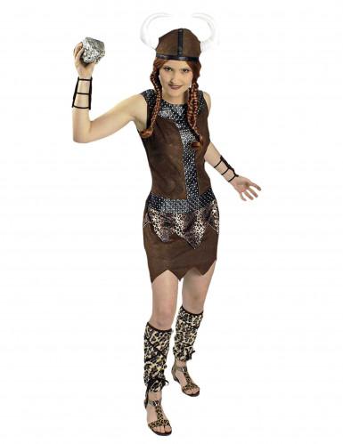 Disfarce guerreira viking mulher