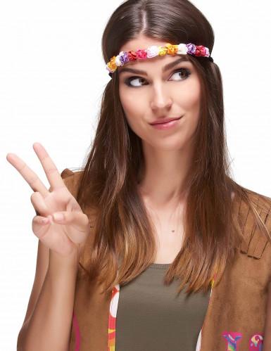 Coroa de flores coloridas mulher-1