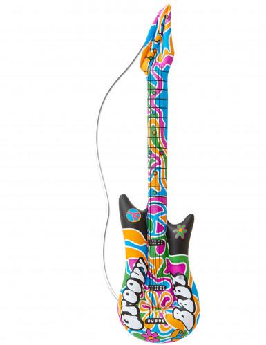 Guitarra insuflável hippie