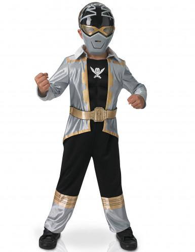 Disfarce 3D EVA Power Rangers™ Silver super mega força menino