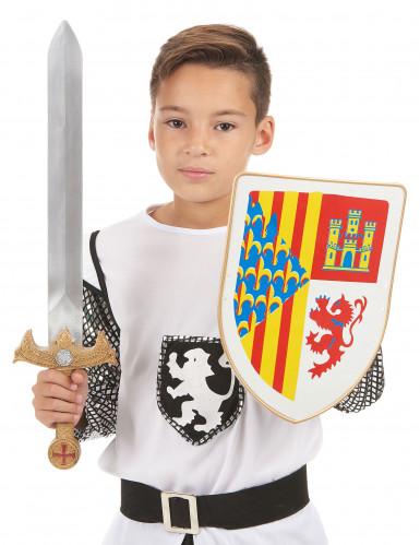 kit de Cavaleiro para Criança Escudo e Espada-1
