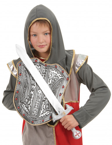 Kit de Cruzado para criança Escudo Cizento e Espada-1