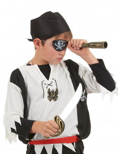 kit de pirata para criança - Sabre Telescópio Chapéu Insignia e pala-1