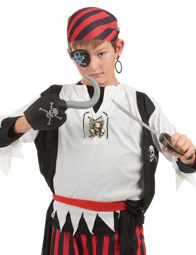 kit de pirata para criança - Sabre crochet insignia pala e brinco-1