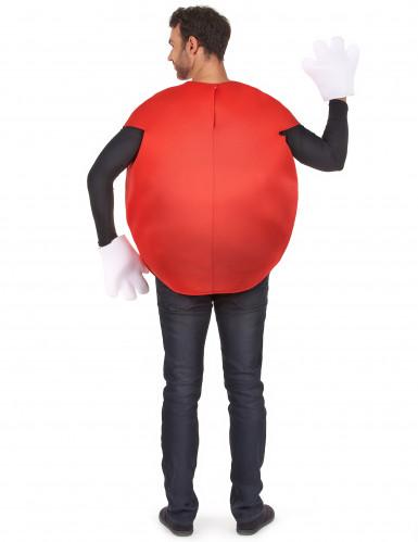Disfarce Bombom vermelho adulto-2