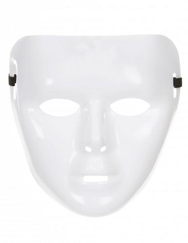 Máscara branca brilhante para adulto