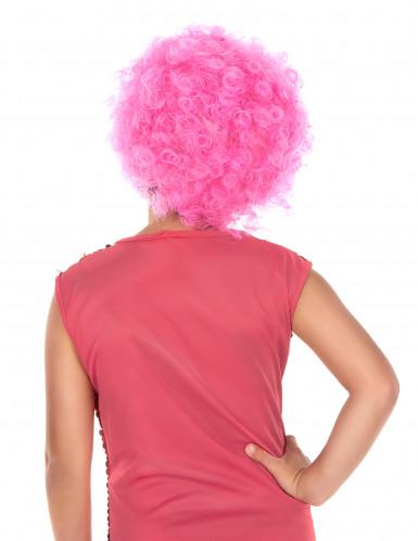 Peruca Disco para Criança cor-de-rosa-1