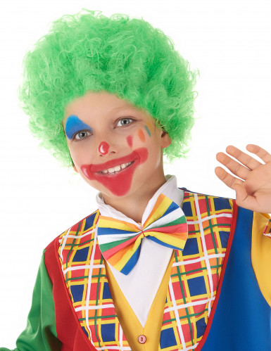 Peruca clown criança verde
