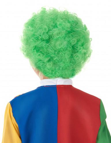 Peruca clown criança verde-1