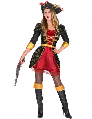 Disfarce de Pirata Barroco para mulher