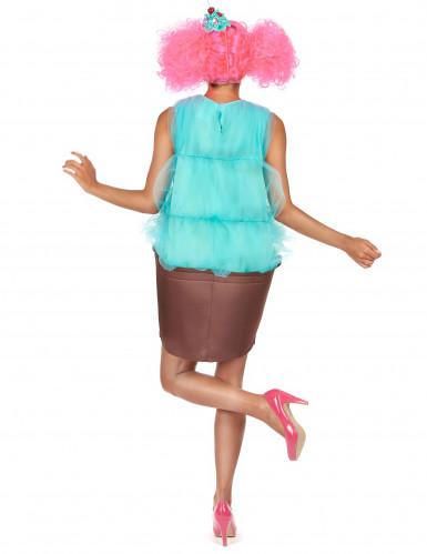 Disfarce de cupcake turquesa para mulher-2