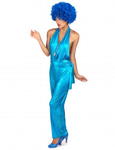 Disfarce conjunto de corpo inteiro Disco Sexy azul -2