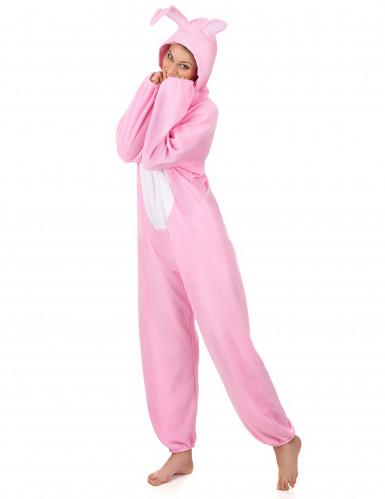 Disfarce de coelho cor-de-rosa para mulher-1