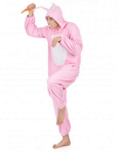 Disfarce de coelho cor-de-rosa para homem-1