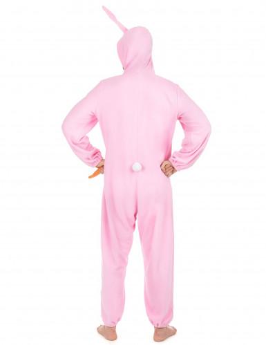 Disfarce de coelho cor-de-rosa para homem-2