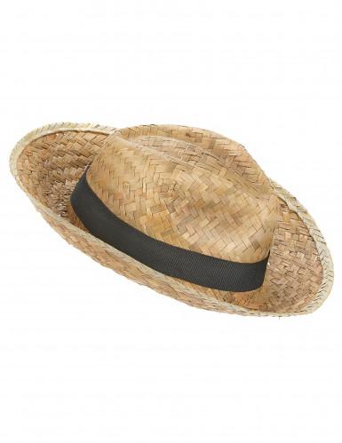 Chapéu panamá em palha para adulto