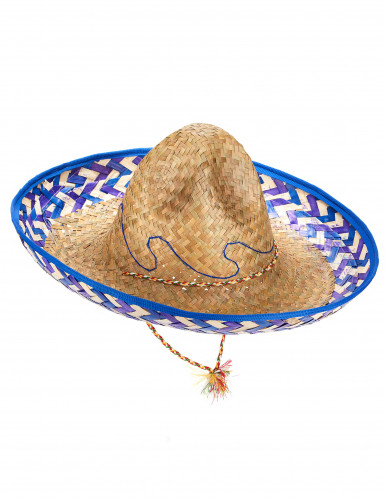 Chapéu mexicano em palha para adulto
