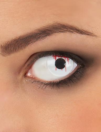 Lentes fantasia olho ferido adulto