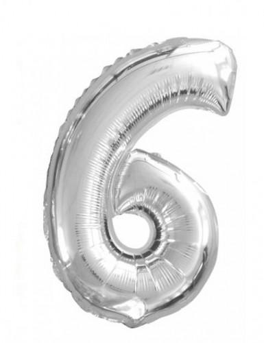 Balão de alumínio Número 6 35 cm