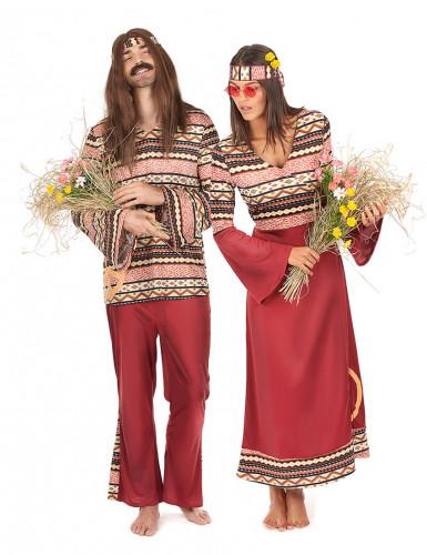 Disfarce Hippie para casal Bordeaux