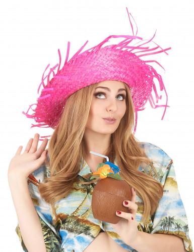 Chapéu cor-de-rosa Havai-2