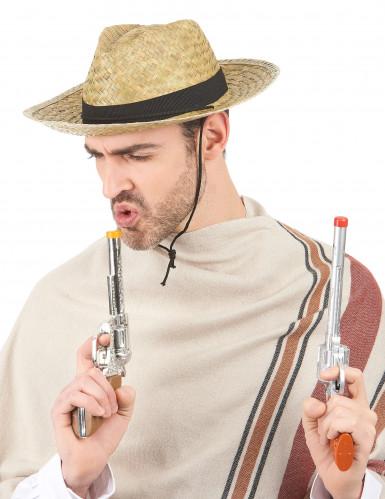 Chapéu Cowboy com fita preta adulto-1