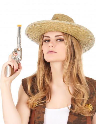 Chapéu Cowboy com fita preta adulto-2