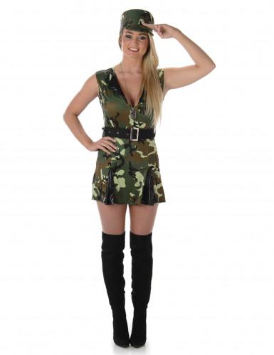 Disfarce soldado mulher