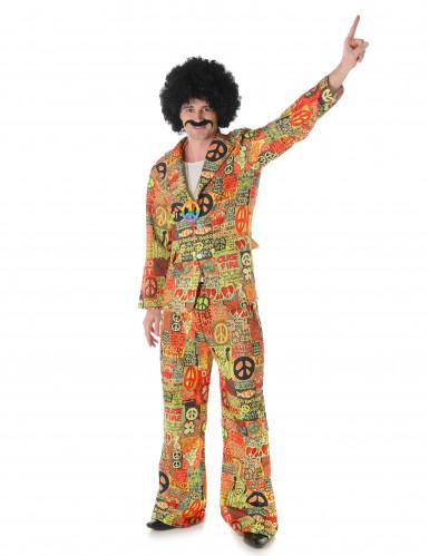 Disfarce hippie homem peace and love