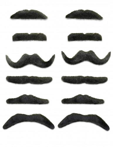 12 bigodes pretos!