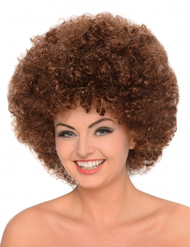Peruca afro castanha mulher