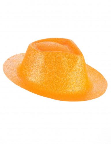Chapéu brilhante cor de laranja adulto