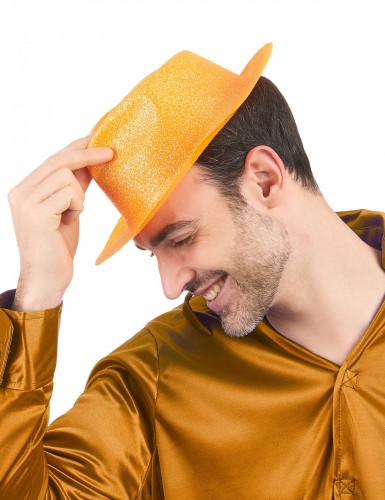 Chapéu brilhante cor de laranja adulto-1