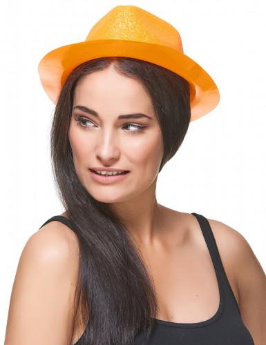 Chapéu brilhante cor de laranja adulto-2