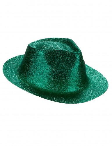 Chapéu brilhante verde adulto