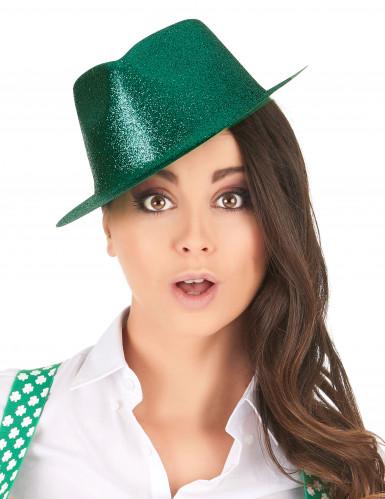 Chapéu brilhante verde adulto-1
