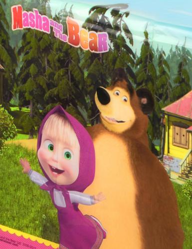 Toalha de plástico Masha e o Urso™-1