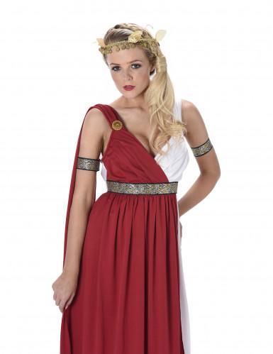 Disfarce romana vermelho mulher-1