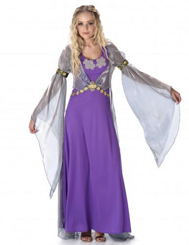Disfarce princesa medieval lilás mulher