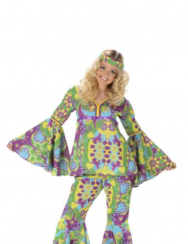 Disfarce hippie flores para mulher-1