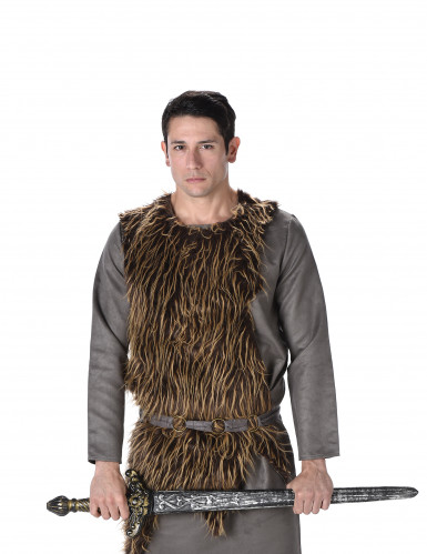 Disfarce viking pele sintética homem-1