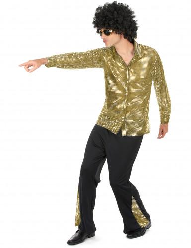Disfarce disco dourado homem-1