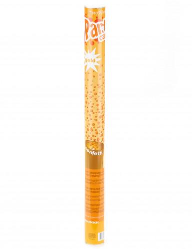 Canhão de confetis dourados 60 cm-1