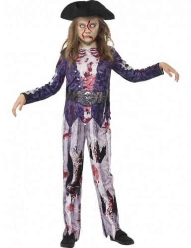 Disfarce zumbi pirata menina Halloween