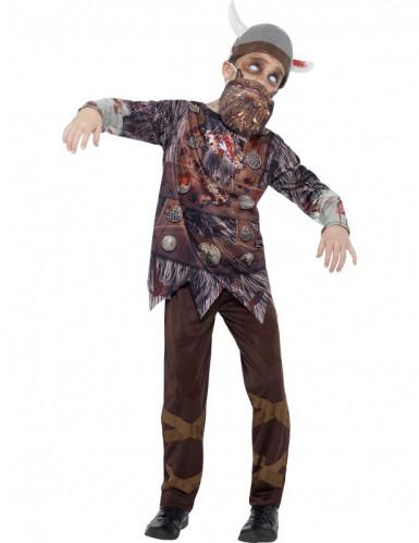 Disfarce viking zumbi criança Halloween