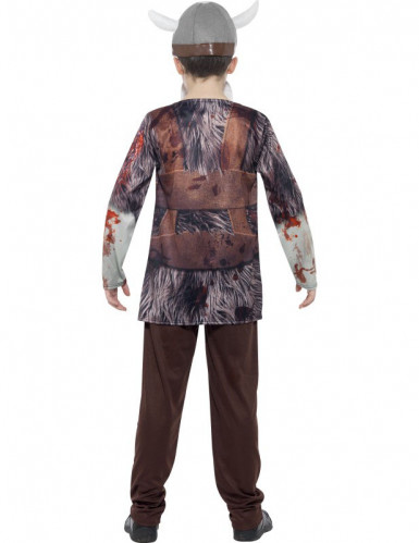 Disfarce viking zumbi criança Halloween-1