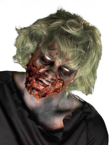 Kit de maquilhagem zombie despedaçado adulto Halloween