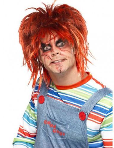 Kit maquilhagem boneco aterrorizante adulto Halloween